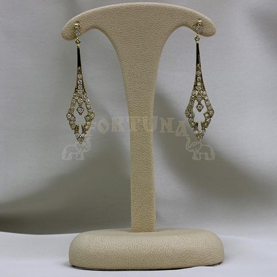 Златни обеци с брилянти