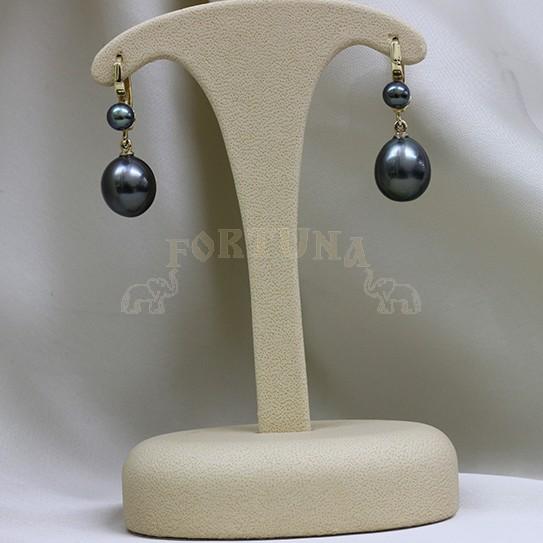 Златни обеци с перли
