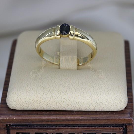 Златни халки със сапфир