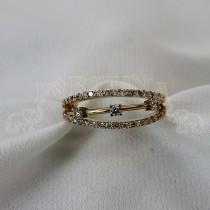 Златен дамски пръстен с брилянти