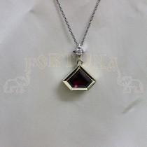 Златен медальон с турмалин и брилянт