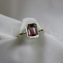 Златен дамски пръстен с  турмалин