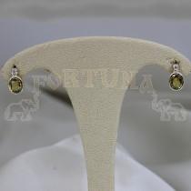 Златни обеци със сапфир и брилянти
