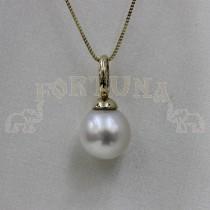 Златен медальон с перла