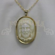 Медальон жълто злато слонова кост