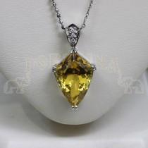 Златен медальон с топаз и брилянти