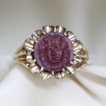 Златен пръстен рубин
