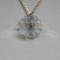 Медальон планински кристал и брилянт