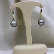 Златни обеци перла