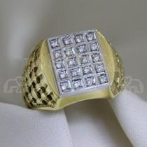 Мъжки пръстен с брилянт