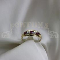 Дамски пръстен с рубини