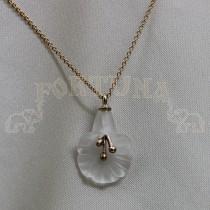 Златен медальон с планински кристал