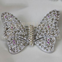 Златна брошка с диаманти и брилянти