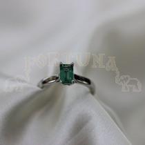 Златен дамски пръстен с изумруд