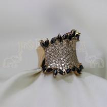 Дамски пръстен със  сапфири и брилянти