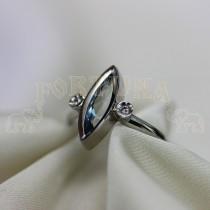 Дамски пръстен с аквамарин