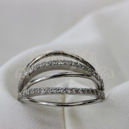 Дамски пръстен с брилянти