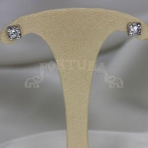 Златни обеци с диаманти и брилянти