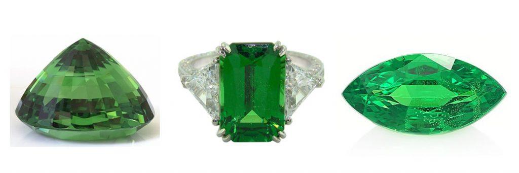 Цаворит - зелен гранат